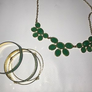 Bracket and necklace set